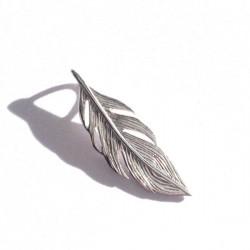 Beau pendentif feuille travaillée argent 925 hauteur 25 mm bijou nature