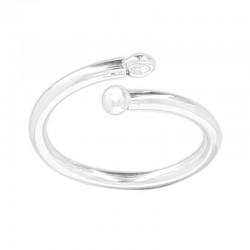 Support bague en argent 925 petit anneau de suspension à personnaliser avec breloque anneau taille 52