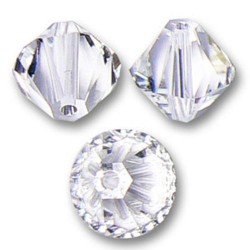 Perles toupies cristal swarovski 10 mm lot de 2