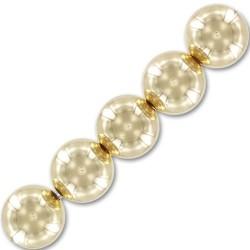 Perle ronde boule en plaqué or diamètre 10 mm la pièce