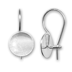 Crochets d'oreilles plateau 10 mm en argent 925