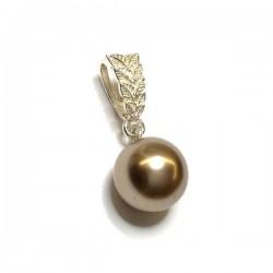 Pendentif plaqué or 18 carats anneau avec suspension à décorer diamètre 20 mm