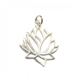 Pendentif fleur de lotus en argent 925/000