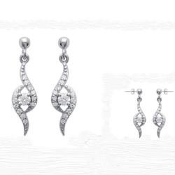 Boucles d'oreilles Argent 925 et Zirconium