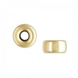 Perle rondelle 3 mm en plaqué or Lot de 4