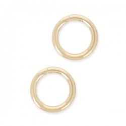 8 mm - Lot de 3 anneaux ronds ouverts en plaqué or 8 mm x 1 mm