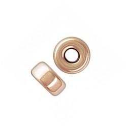 Perle rondelle 3 mm en plaqué or 14 carats rose Lot de 4