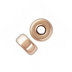 Perle rondelle 4 mm en plaqué or 14 carats rose Lot de 2