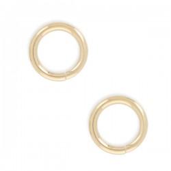 6 mm - Lot de 5 anneaux ronds ouverts plaqué or 6 mm x 0,6 mm