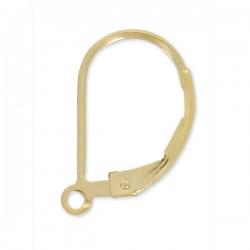 Boucles d'oreilles dormeuses en plaqué or avec anneau ouvert à décorer