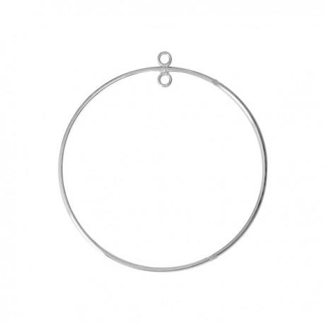 Intercalaire anneau argent 925 diam. 45 mm connecteur rond à décorer
