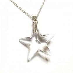 Pendentif étoile en cristal Swarovski et argent 925/000
