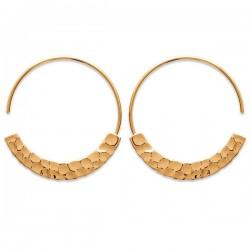 Boucles d'oreilles créoles en plaqué or 18 carats bijou tendance