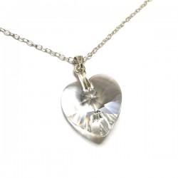 Pendentif coeur en cristal Swarovski et argent 925/000
