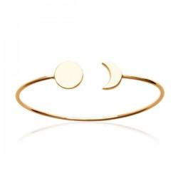 Bracelet jonc rigide en plaqué or 18 carats Bijou tendance