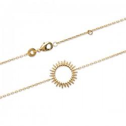 Bracelet soleil en plaqué or 18 carats