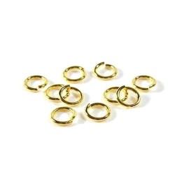 Petits anneaux ronds ouverts plaqué or 18 carats 3 x 0,5 mm Lot de 6