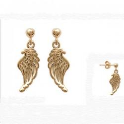 Boucles d'oreilles ailes d'Ange en Plaqué Or