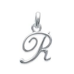 Pendentif initiale R en argent 925/000 lettre prénom 17 mm