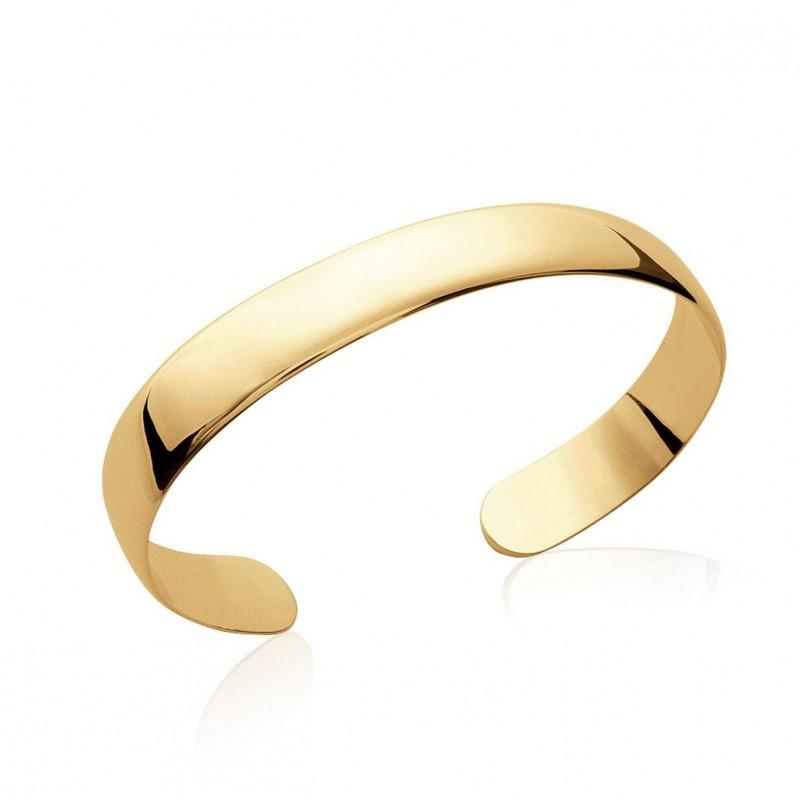 bracelet jonc rigide en plaqu or 18 carats diam tre 58 mm largeur 10 mm ysia bijoux. Black Bedroom Furniture Sets. Home Design Ideas