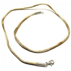 Collier cordon fil de soie noisette fermoir argent 925 /000 du 38 au 42 cm
