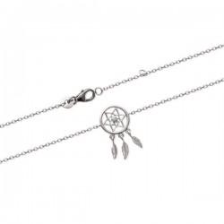 Bracelet attrape rêves Argent 925/000 et pierre de couleur bleue turquoise