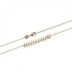Bracelet épis de blé en plaqué or 18 carats et zirconium bijou tendance