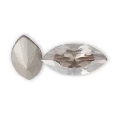 Cabochon ovale cristal Swarovski transparent 15 mm dos en pointe