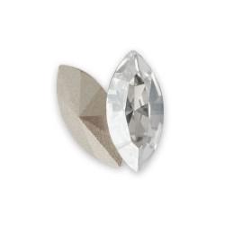 Cabochon ovale cristal Swarovski 10 mm dos en pointe lot de 2 pièces
