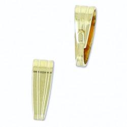 Attache pendentif plaqué or 14 carats bélière décorée 7.5 mm de hauteur