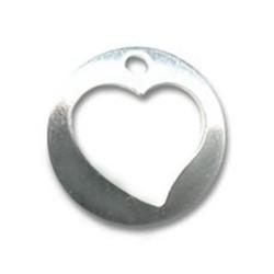 Breloque coeur ajouré argent 925 10 mm lot de 2