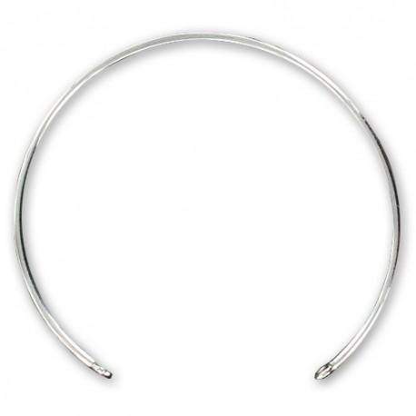Bracelet jonc argent 925 avec 2 anneaux à décorer diamètre 58 mm
