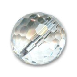 Perle ronde cristal swarovski taillé disco diamètre 12 mm