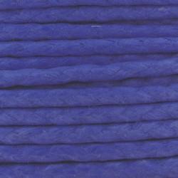 Cordon coton ciré tressé européen 2 mm bleu foncé fil très résistant 2m50