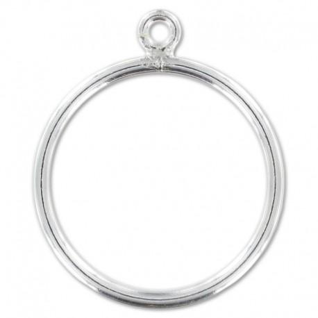 Support bague en argent 925 1 anneau ouvert taille 54