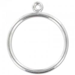 Support bague en argent 925 1 anneau ouvert taille 56