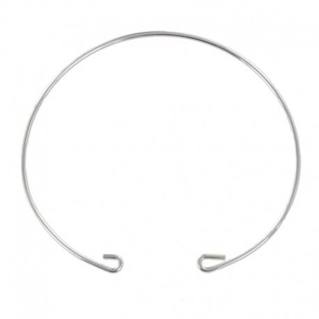 Bracelet jonc argent 925 fil rond à décorer 16.5 cm