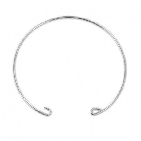 Bracelet jonc argent 925 fil rond à décorer 15 cm