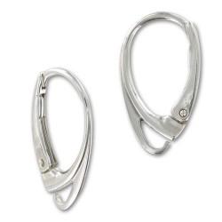 Boucles d'oreilles dormeuses argent 925 18 mm
