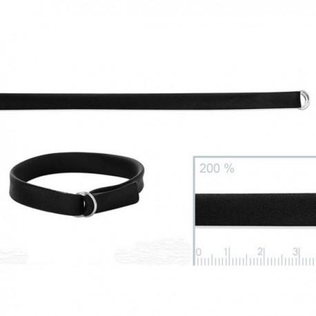 Bracelet satin noir fermoir passant en argent 925