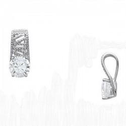 Pendentif mode en argent 925 perlé et zirconium