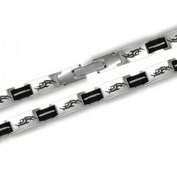 Bracelet en acier New design bicolore