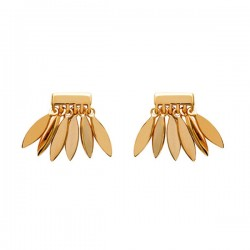 Boucles d'oreilles en plaqué or 18 carats petites gouttes bijoux tendance