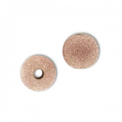 Perle boule diamantée en plaqué or rose diamètre 5 mm Lot de 2