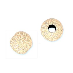 Perle boule diamantée en plaqué or diamètre 5 mm Lot de 2