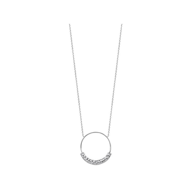 collier anneau en argent massif 925 000 rhodi bijou tendance ysia bijoux. Black Bedroom Furniture Sets. Home Design Ideas