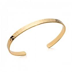 Bracelet jonc martelé en plaqué or 18 carats diamètre 58 mm