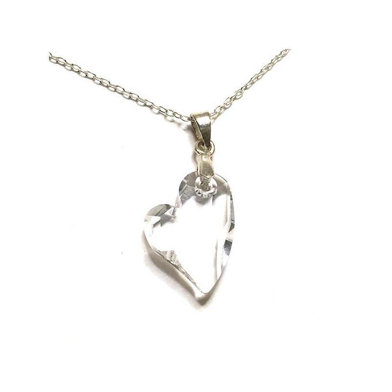 Pendentif coeur en cristal Swarovski et argent 925/000 - Ysia Bijoux
