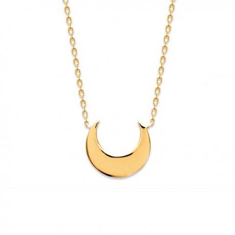 Collier lune en plaqué or 18 carats bijou tendance