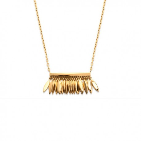 Collier plaqué or 18 carats pendant petites gouttes bijou tendance